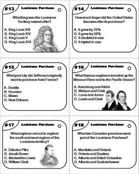 Louisiana Purchase Task Cards