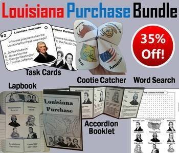 Louisiana Purchase Task Cards and Activities Bundle