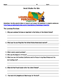 Louisiana Purchase Webquest