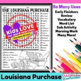 Louisiana Purchase Word Search