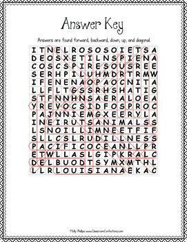 Louisiana Purchase Word Search