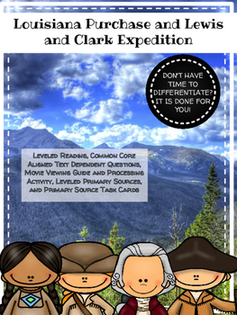 Louisiana Purchase and Lewis and Clark: 3 Powerful Activities
