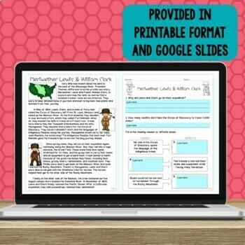 Louisiana Purchase, Lewis and Clark, & Sacagawea- Reading Integration Unit
