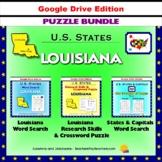 Louisiana Puzzle BUNDLE - Word Search & Crossword Activities- US States - Google