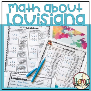 Math about Louisiana State Symbols through Subtraction Practice
