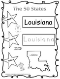 Louisiana Read it, Trace it, Color it Learn the States pre