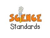 Louisiana Science Grade 6 standard GLE cards for Disciplinary Core Ideas