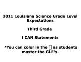 Louisiana Science I Can Statements Grade 3