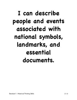 Louisiana Second Grade Social Studies I Can Statements (2011 GLEs)