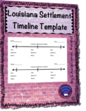 Louisiana Settlement Timeline Template
