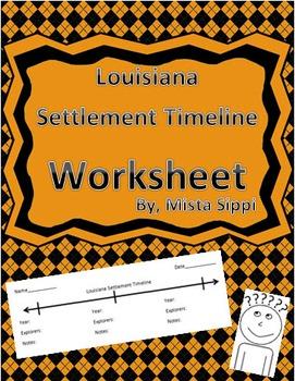 Louisiana Settlement Timeline Worksheet