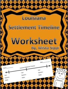Louisiana Settlement Timeline Worksheet
