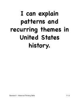 Louisiana Seventh Grade Social Studies I Can Statements (2011 GLEs)