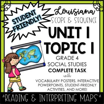 Louisiana Social Studies 4th Grade Unit 1 Topic 1 COMPLETE Task