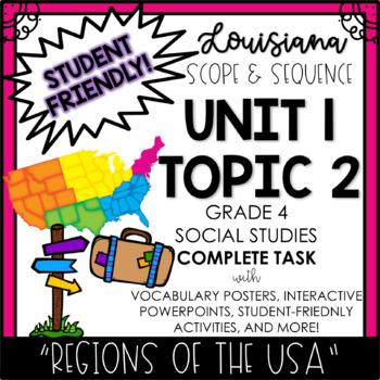 Louisiana Social Studies 4th Grade Unit 1 Topic 2 Part 1 of 2