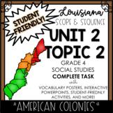 Louisiana Social Studies 4th Grade Unit 2 Topic 2 COMPLETE TASK!