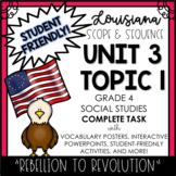 Louisiana Social Studies 4th Grade Unit 3 Topic 1 COMPLETE TASK!