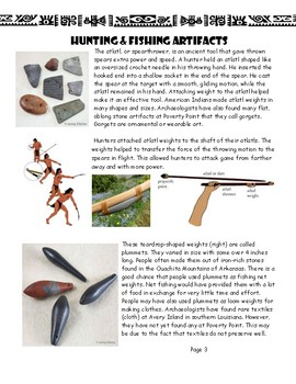 Louisiana Social Studies Booklet 10 - Poverty Point Artifacts