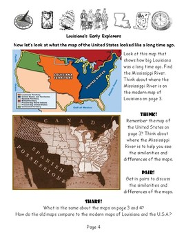 Louisiana Social Studies Booklet 12 - Early Explorers LaSalle