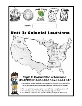 Louisiana Social Studies Booklet 13 - French and Spanish Influence