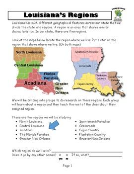 Louisiana Social Studies Booklet 3 - Louisiana Today: The Place Called Louisiana