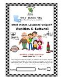 Louisiana Social Studies Booklet 5 -What Makes Louisiana Unique:Families&Culture