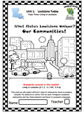Louisiana Social Studies Booklet 6 - What Makes Louisiana Unique: Communities