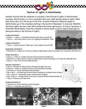 Louisiana Social Studies Booklet 7 - What Makes Louisiana Unique: Celebrations