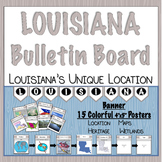 Louisiana Social Studies Location Maps Bulletin Board Banner Posters