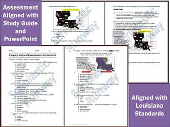 Louisiana Social Studies People, Land, Environment, Regions Bundle