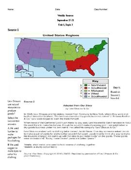 Louisiana Social Studies Unit 1 Topic 2 Bellringer