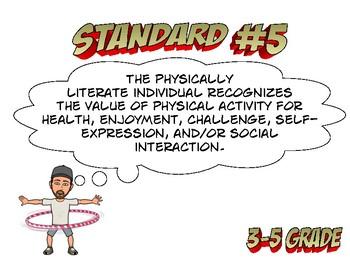 Louisiana State 3-5 grade PE Standard 5 GLE 's
