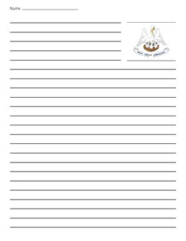 Louisiana State Flag Lined Paper