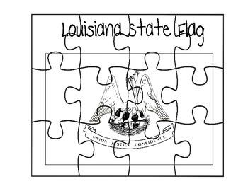 Louisiana State Flag Puzzle