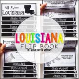 Louisiana State Flipbook Interactive Activity for Social Studies