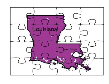 Louisiana State Puzzle Map