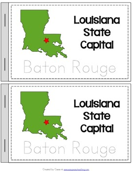 Louisiana State Symbols Notebook