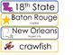 Louisiana State Word Wall Bulletin Board Set. Geography Cu