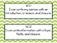 Louisiana Student Standards 1st Grade ELA I Can Statements - Navy & Lime