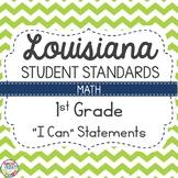 Louisiana Student Standards 1st Grade Math I Can Statements