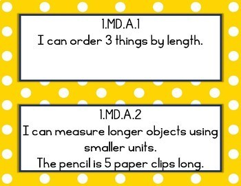 Louisiana Student Standards 1st Grade Math I Can Statements