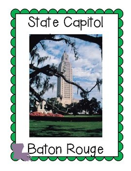 Louisiana Symbols Bulletin Board Set