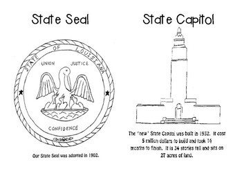 Louisiana Symbols Mini-book
