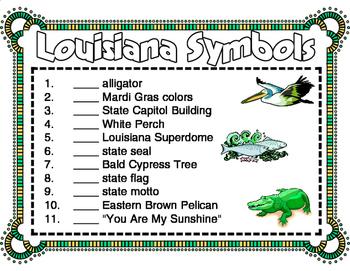 Louisiana Symbols Unit