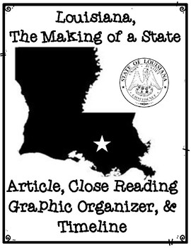 Louisiana The Making of a State Informational Article, Organizer, and Timeline