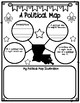 Louisiana Themed Types of Maps Graphic Organizers