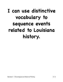 Louisiana Third Grade Social Studies I Can Statements (2011 GLEs)