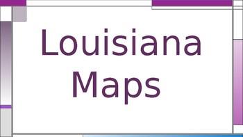 Louisiana Types of Maps Powerpoint