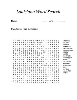 Louisiana Word Search!