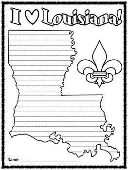Louisiana Writing Paper
